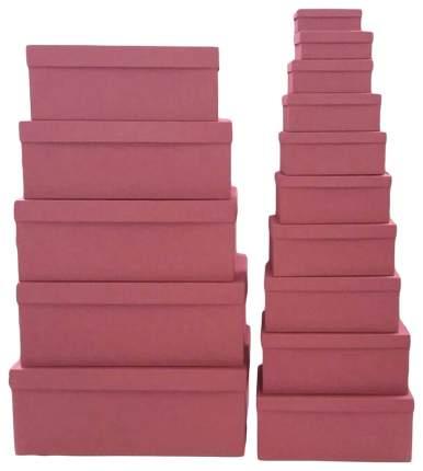 Набор подарочных картонных коробок Пьяная вишня, 15 шт. от 12x6,5x4 см до 46,6x33x18 см