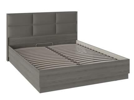 Двуспальная кровать ТриЯ и мягким изголовьем «Либерти» СМ-297.01.002 Хадсон, Ткань Грей