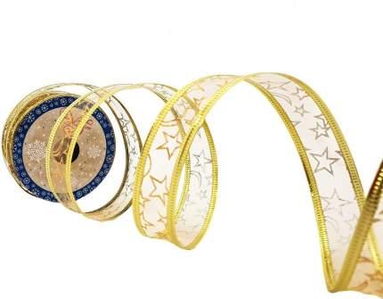 Лента декоративная Феникс Present золотой орнамент, 270x2,5 см