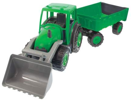 Трактор большой MOCHTOYS с ковшом и прицепом