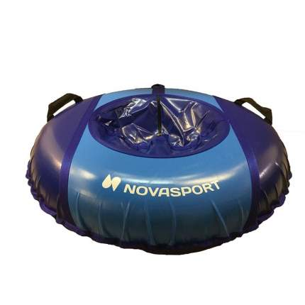Санки надувные 90 см NovaSport с камерой в сумке синий