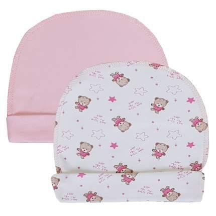 Комплект шапок 2 шт. Папитто розовый р.40 37-032