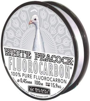 Леска флюрокарбоновая Balsax White Peacock Fluorocarbon Box 0,45 мм, 100 м, 15,9 кг