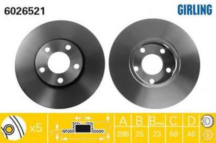 Тормозной диск GIRLING 6026521