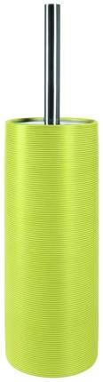 Ершик для унитаза с подставкой Spirella Tube Ribbed Зелёный