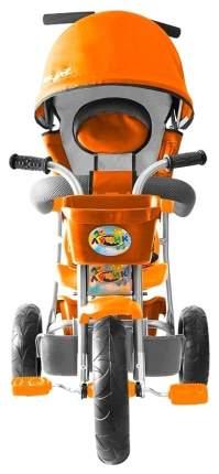 Велосипед трехколесный Galaxy Лучик с капюшоном оранжевый