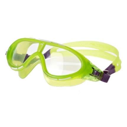 Очки-полумаска для плавания Speedo Rift Junior, 6-14 лет, зеленые/прозрачные (7688)