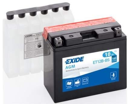 Аккумулятор автомобильный EXIDE ET12B-BS 10 Ач