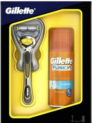 Подарочный набор GILLETTE Fusion ProShield бритва с 1 сменной кассетой+гель д/бр 75мл