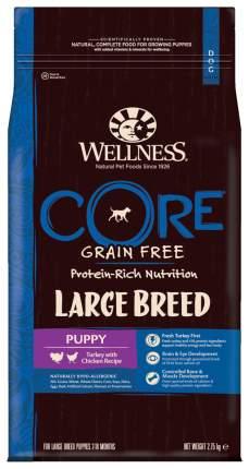 Сухой корм для щенков Wellness CORE Large Breed Puppy, для крупных пород, индейка, 2,75кг