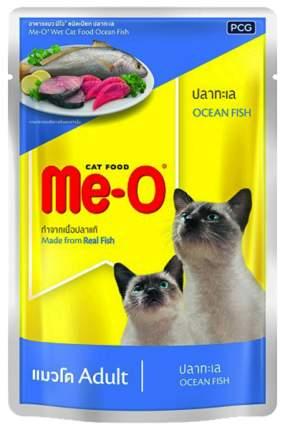 Влажный корм для кошек Me-O океаническая рыба, 12шт, 80 г