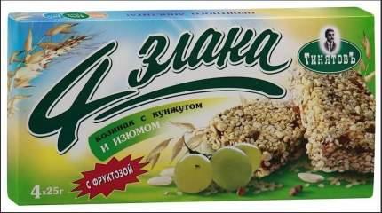 Козинак ТинятовЪ 4 злака арахис с изюмом