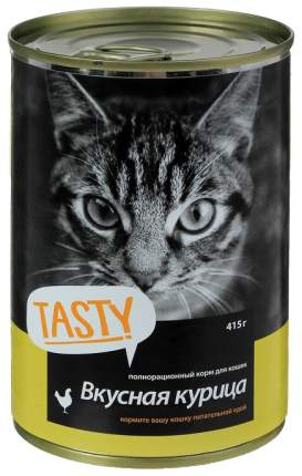 Консервы для кошек TASTY Petfood Вкусная курица, 415 г