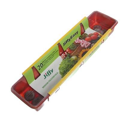 Длинная мини-тепличка Джиффи (20 ячеек) + 20 кокосовых таблеток 50 мм