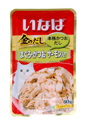Влажный корм для кошек CIAO, японский тунец бонито и лосось, 60г