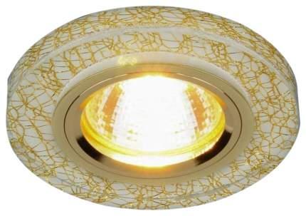 Встраиваемый светильник Elektrostandard 8371 MR16 WH/GD белый/золото