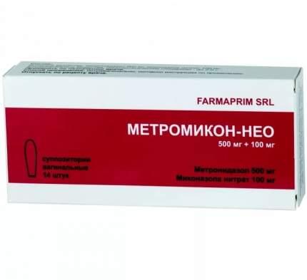 Метромикон-Нео суппозитории вагинальные 14 шт.
