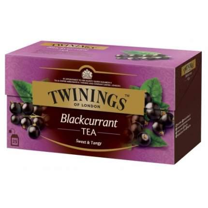 Чай черный Twinings черная смородина 25 пакетиков