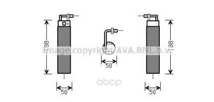 Радиатор кондиционера автомобильный Ava DND285