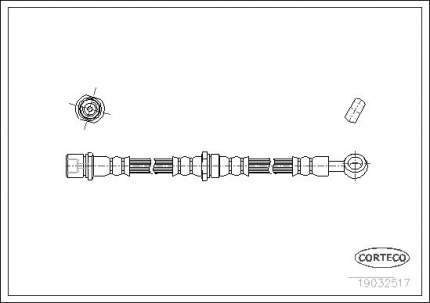 Шланг тормозной CORTECO 19032517
