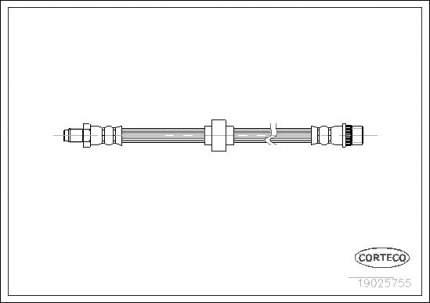 Шланг тормозной CORTECO 19025755