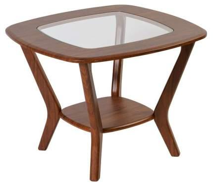 Журнальный столик Мебелик Мельбурн 583 65х65х50 см, орех/орех