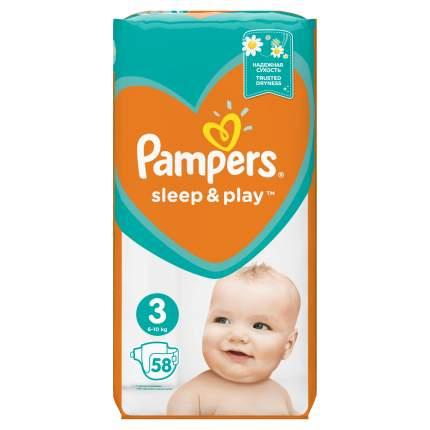 Подгузники Pampers Sleep & Play 3 (5-9 кг), 58 шт.