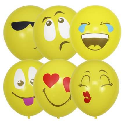 Воздушные шарики Latex Occidental 30 см Пастель Эмоции Смайл