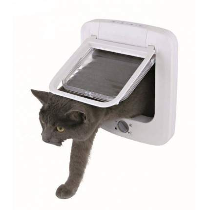 Дверца для кошек Trixie Cat Flap, размер 23×26,5см, белый