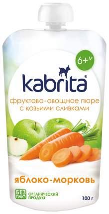Готовый обед Kabrita С козьими сливками Яблоко-морковь с 6 мес. 100 г