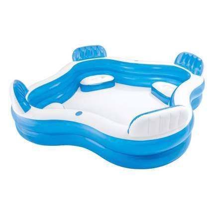 Бассейн надувной INTEX Swim Center Family Lounge Pool Blue Water 56475