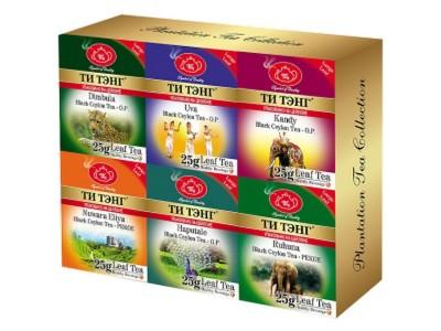 Чай весовой черный Ти Тэнг Plantation Tea Collection 6 шт*25 г