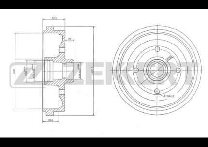 Тормозной барабан ZEKKERT BS-5416