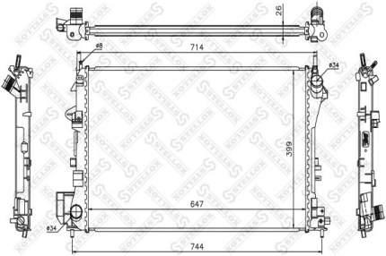 Радиатор охлаждения двигателя STELLOX 10-26002-SX