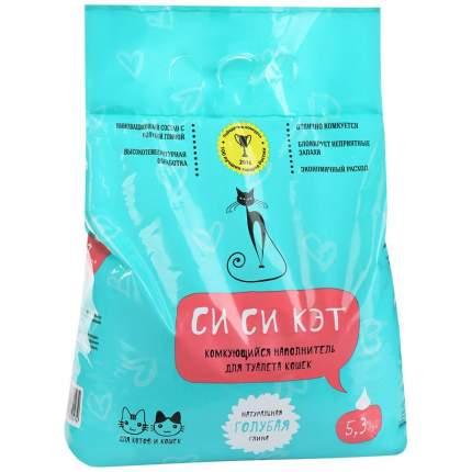 Комкующийся наполнитель для кошек Си Си Кэт бентонитовый, 3 кг, 5.3 л