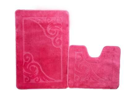 Набор ковриков для ванной ЭКО розовый, SHAHINTEX 7317-4