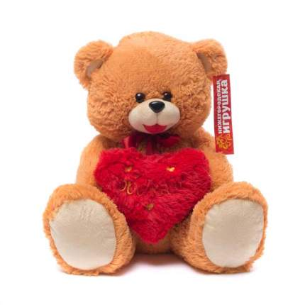 Мягкая игрушка Медведь с сердцем малый 45 см Нижегородская игрушка См-324-с-5