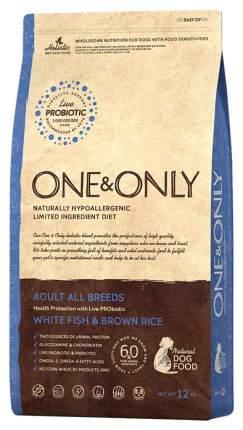 Сухой корм для собак ONE&ONLY Adult All Breeds, рыба, рис, 12кг
