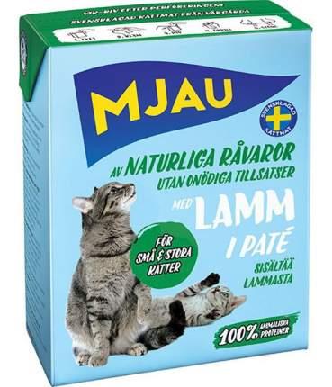 Влажный корм для кошек Mjau Pate, мясной паштет с ягненком, 380г