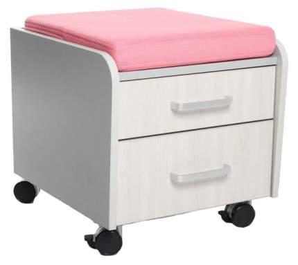 Тумбочка Comf-Pro BD-C2 розовый, серый, беленый дуб