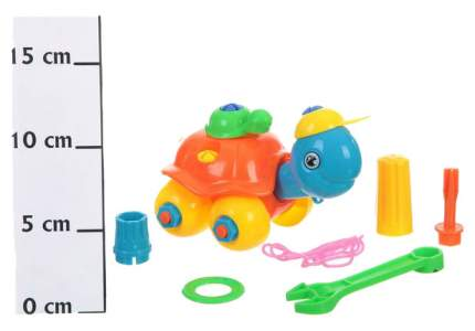 Пластиковый конструктор с болтами и гайками Черепаха