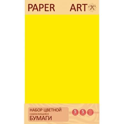 Бумага цветная самоклеящаяся (А4, 5л, 5цв), ЦБСМ55274
