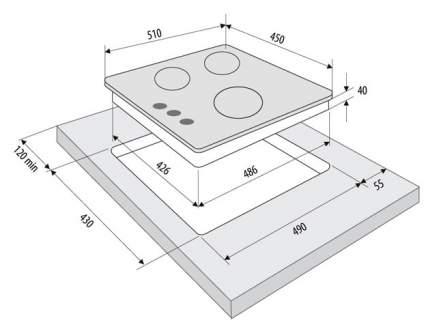 Встраиваемая варочная панель газовая Fornelli PGA 45 TORDO IX Silver