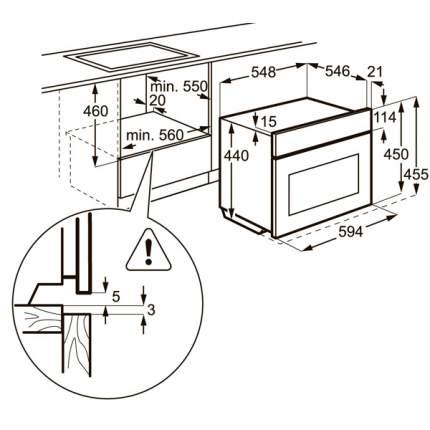 Встраиваемый электрический духовой шкаф Electrolux EVY7800AAV White