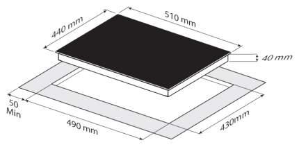 Встраиваемая варочная панель электрическая Zigmund & Shtain CNS 302.45 WX White