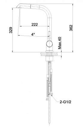 Смеситель для кухонной мойки LEMARK Expert LM5075S матовый