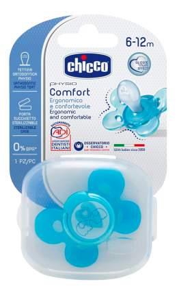 Силиконовая пустышка ортодонтическая Chicco Physio Comfort Lumi 12 Мес