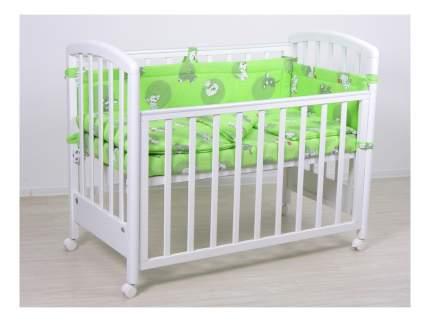 Комплект детского постельного белья Тополь Фея Наши друзья зеленый