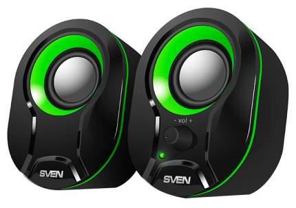 Компьютерная акустическая система SVEN SPS-290, Черный/Зеленый, 5 Вт, питание USB