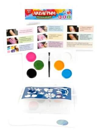 Аквагрим Multiart 6 цветов красок на масленной основе. Кисть, 5 трафаретов